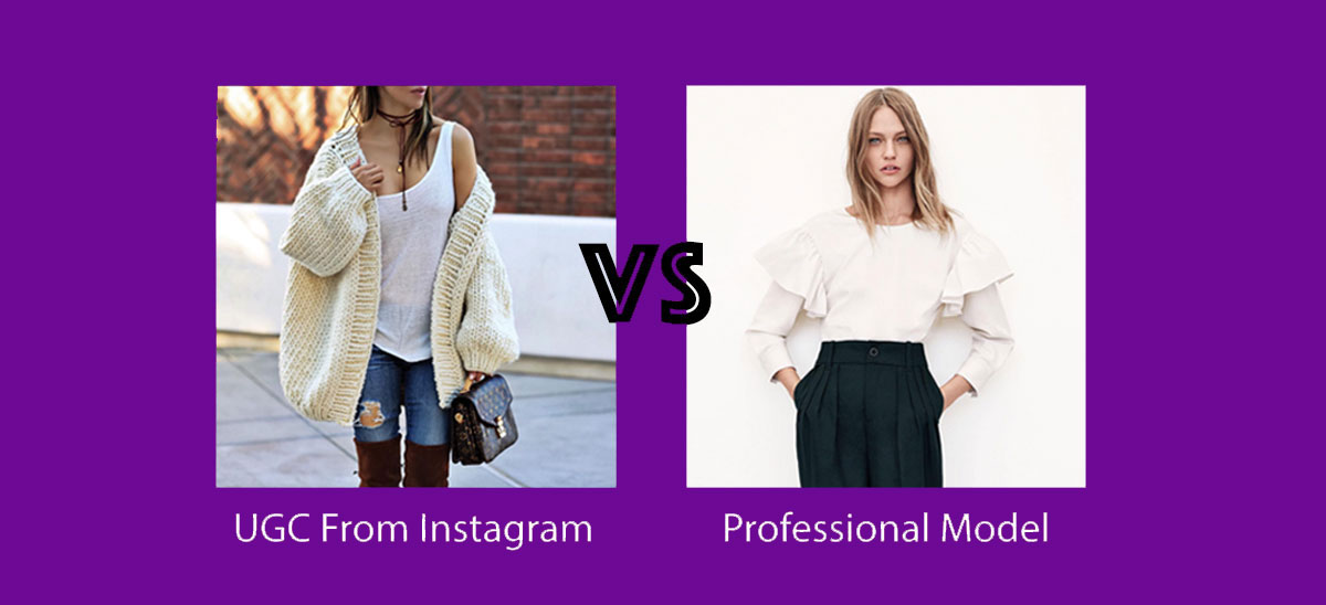User Generated Content vs Professional Images