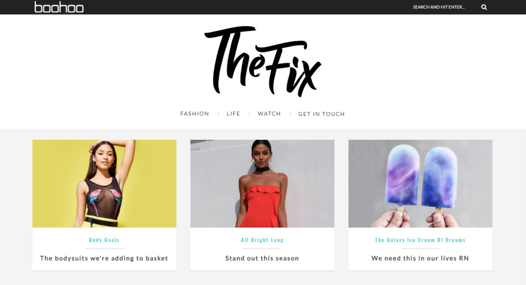 BooHoo's Fix Blog Screenshot